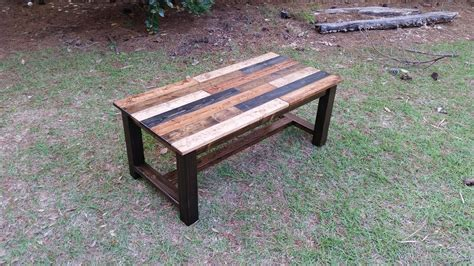 Reclaimed Wood Coffee Table Built From Pine Planking