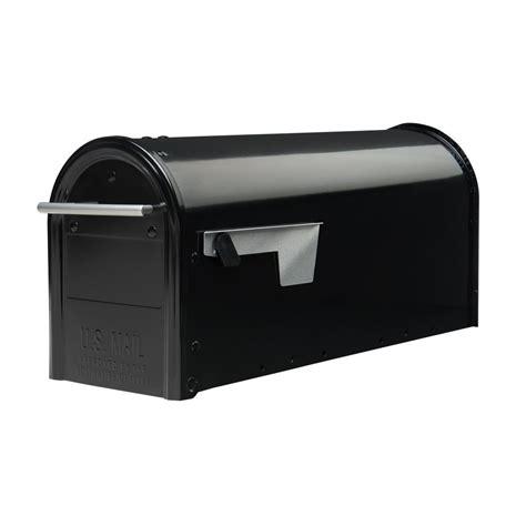 gibraltar mailboxes franklin post mount mailbox  black