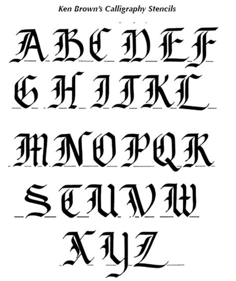 Calligraphy Alphabet  Old English Calligraphy Alphabet