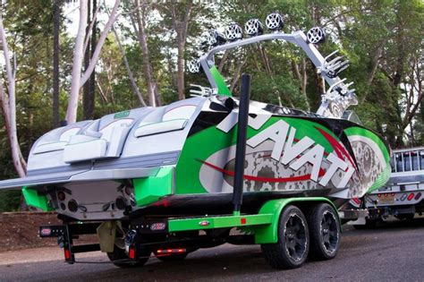 Malibu Boat Trailer Bumpers by Pavati Wakeboarding Boat With A Custom Boat Trailer