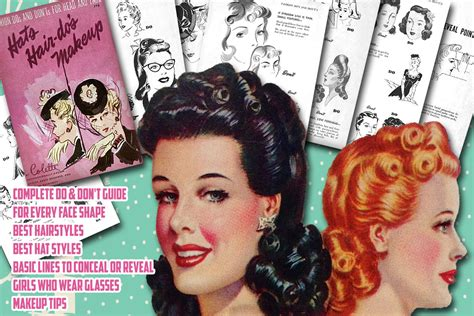1940s Hairstyle Tutorial by 1940s Hairstyle Tutorials Vintage Makeup Guides