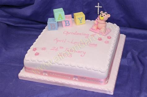 Christening Cake  Ee  Ideas Ee   Almond Art