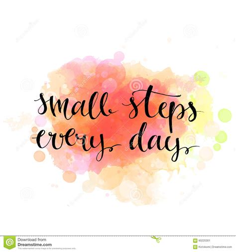 Small Steps Every Day Black Motivation Quote On Stock