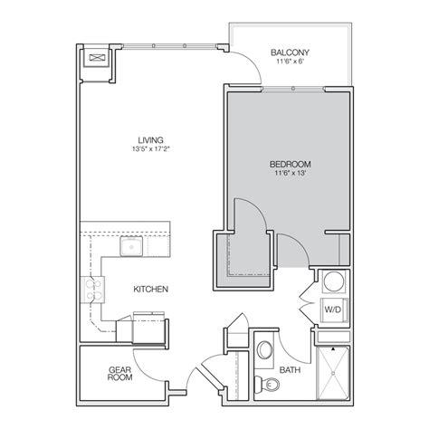 1 Bedroom Apartment Floor Plans by Floor Plan A Greenbelt Apartments