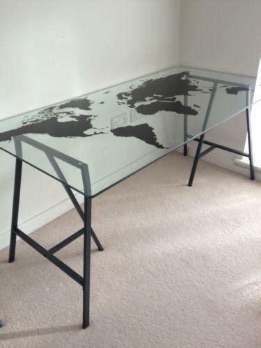 Schreibtisch Glasplatte Ikea by Ikea Glass Desk Ebay