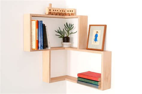 Modern Wall Art Book Shelves Diy Corner Shelf Display