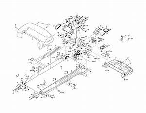 Motor  Walking Belt Diagram  U0026 Parts List For Model