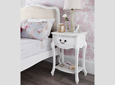 Shabby Chic White 1 Drawer Bedside Table Bedroom