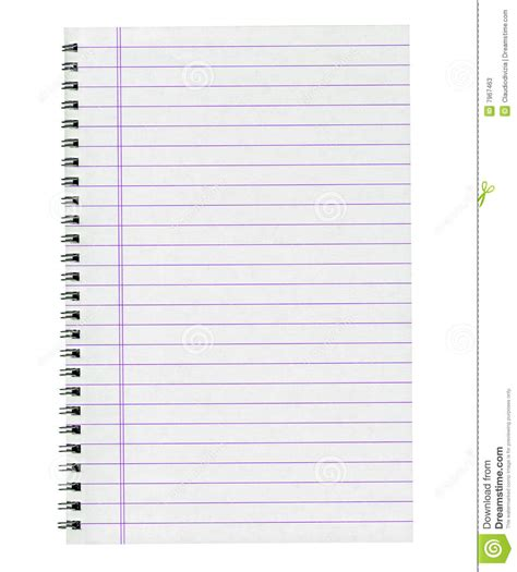 Blank Notebook Page Stock Image. Image Of Business, Blank