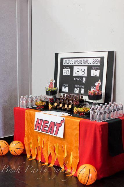 miami heat basketball birthday party ideas   party