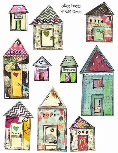 Houses Collage Mixed Printable Paper Journal Ephemera