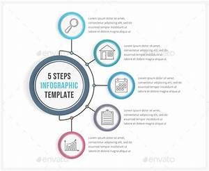 5 Steps Infographic Template Psd  Vector Eps  Ai