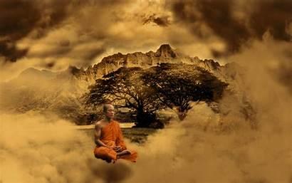 Monk Desktop Monks Buddhist Mountain Meditation Children