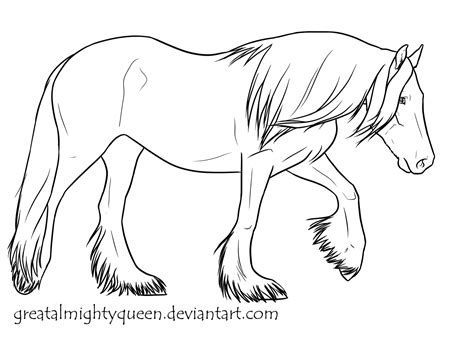 Draft Horse Coloring Pages Coloring Pages