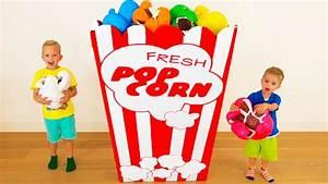Bad Kids & Giant Popcorn Johny Johny Yes Papa Song Nursery ...