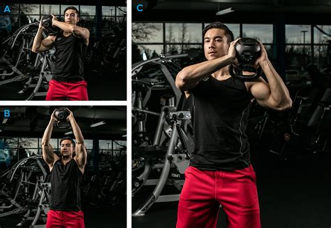 shoulder exercises kettlebell workout press doing bodybuilding workouts muscle fitness re shoulders body training lifts youre landmine encourage growth around