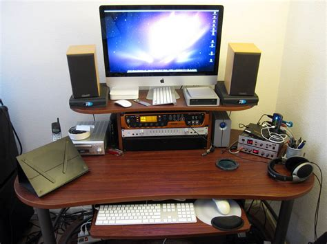 recording studio computer desk djesmusic equipment
