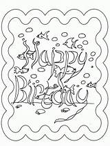 Birthday Coloring Happy Pages Cards Card Printables Printable Underwater Wuppsy Colouring Holiday Print Autumn Fall Sheets Cartoon Adult Little Disney sketch template