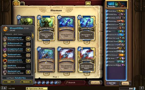 hearthstone schamane totem deck tgt wing s legendary totem shaman hearthstone decks