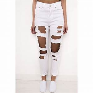 High Waisted Ripped Jeans Uk - Jeans Am