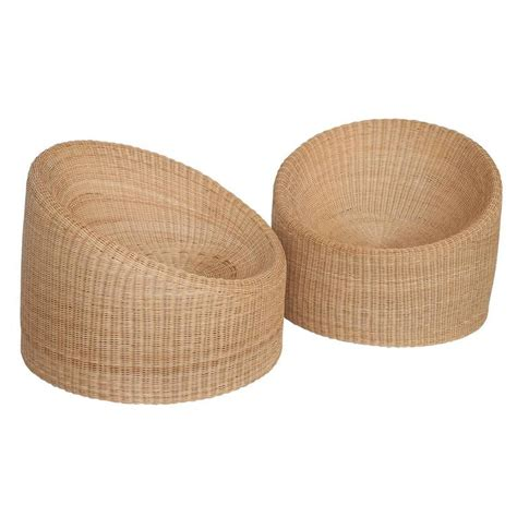 pair of eero aarnio wicker lounge chairs at 1stdibs