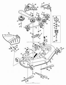Troy Bilt Super Bronco 50 Deck Belt Diagram