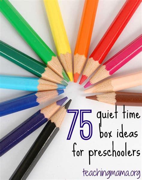 75 Quiet Time Box Ideas For Preschoolers Activité