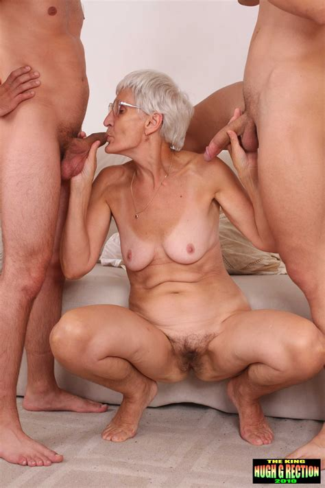 Old granny fucking 2 young men old granny has sex with 2 ...