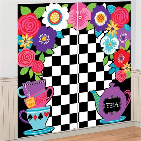 alice  wonderland party wall decoration scene setter