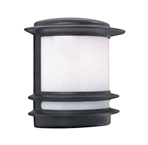 black half flush fitting outdoor wall light 1812