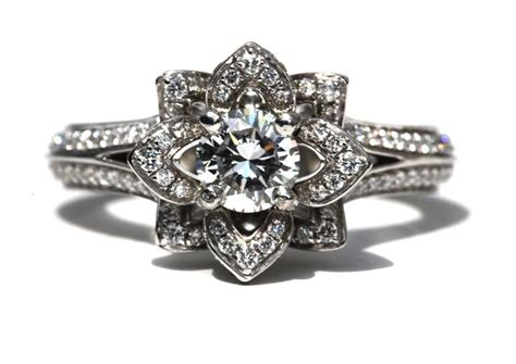 engagement ring floral design onewedcom