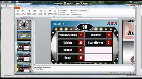 powerpoint family feud template game