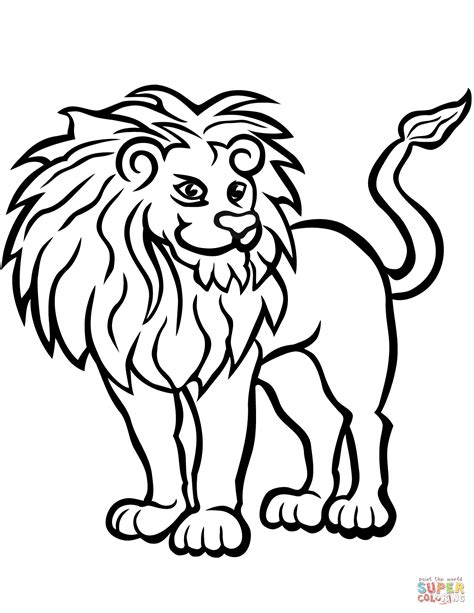 african lion coloring page  printable coloring pages