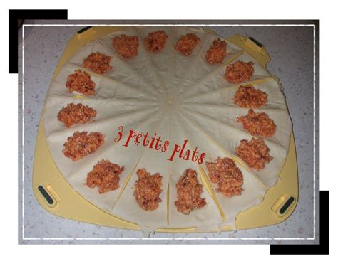 mini croissants au chorizo recette