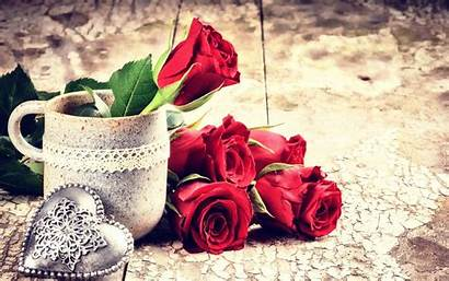 Rose Heart Background Wallpapers Roses Flowers Metal