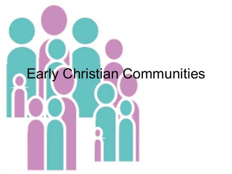 a letter to an early christian community is called early christian communities