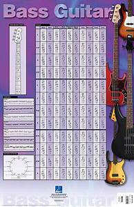 Scale Chart Bass Guitar Poster Music Scales Exercises Fretboard Chart
