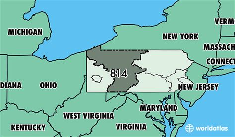 Where Is Area Code 814  Map Of Area Code 814  Erie, Pa