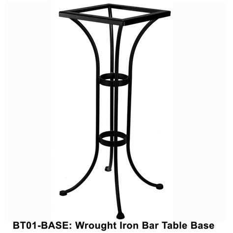 ow standard wrought iron bar height bistro table base