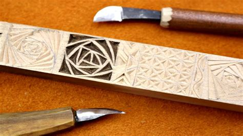 chip carving tutorial lee stoffer youtube
