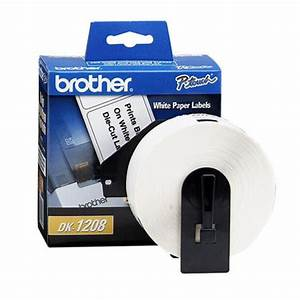 brother original dk1208 large address paper labels 14 in With address label printer paper