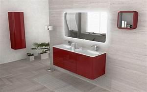 mobile bagno live 140 doppio lavabo arredo sospeso in pi With arredo bagno rosso