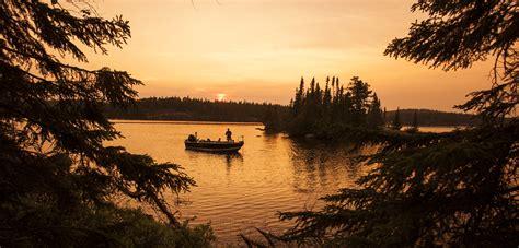 Fishing Sunset Country Ontario Canada
