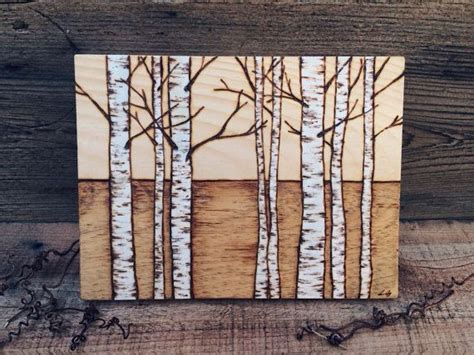 birch trees wood burning by birch trees i by sheetsandslices on etsy woody trees birches and etsy