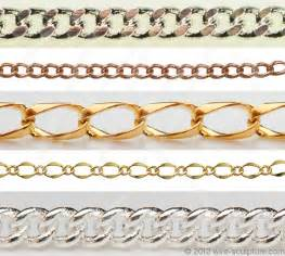 Types of Gold Jewelry Chain Links