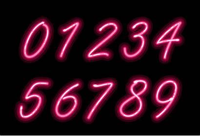 Neon Font Alphabet Numbers Vector Cursive Vecteezy