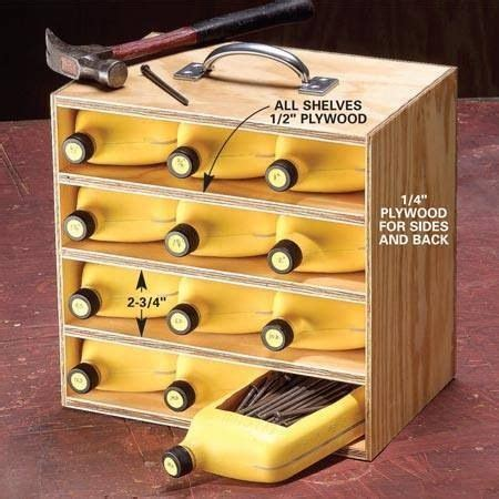 Garage Storage Nails Screws by Cheap Way To Organize Nails And Screws Woodworking