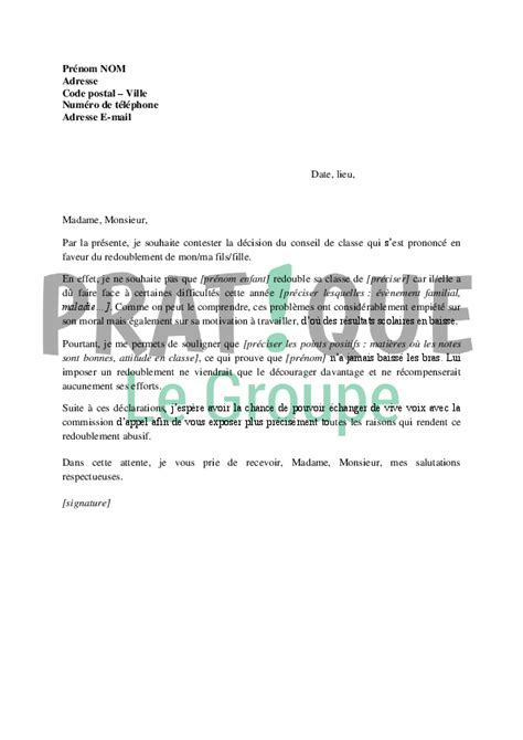 lettre motivation cuisine lettre de contestation du redoublement d 39 un enfant