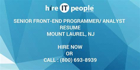 senior front  programmeranalyst resume mount laurel