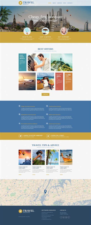 Travel Insurance Website Template insurance website template